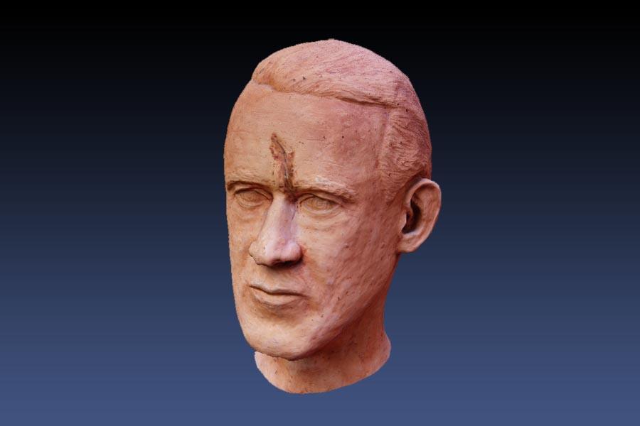 3D Modell einer Büste.