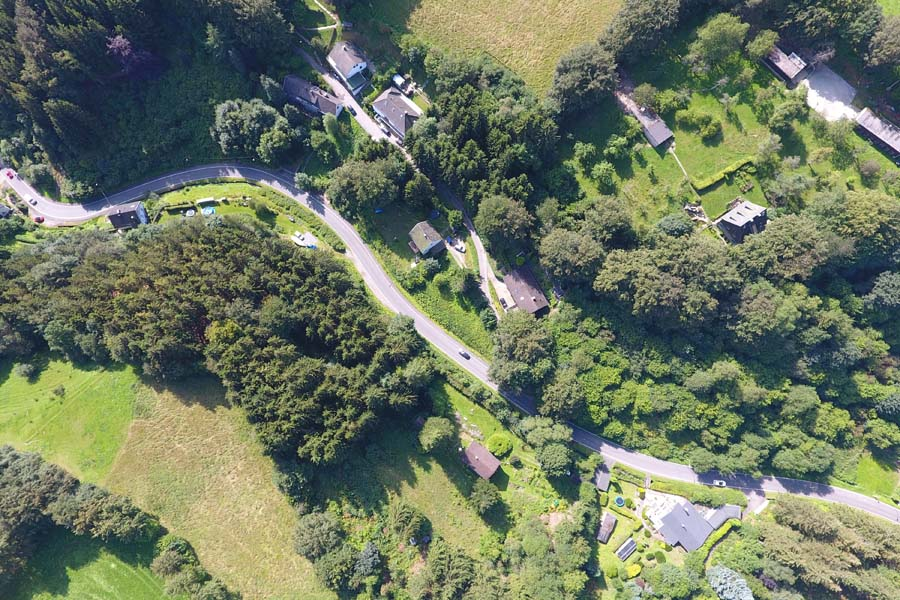 Luftbild mit Multikopter bzw. Drohne im Kreis Aachen aufgenommen.