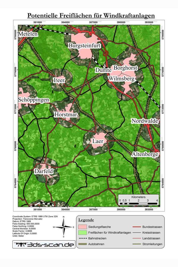 Standortplanung Windkraftanlagen
